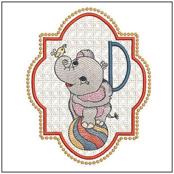 Circus Ellie ABC's - D - Embroidery Design