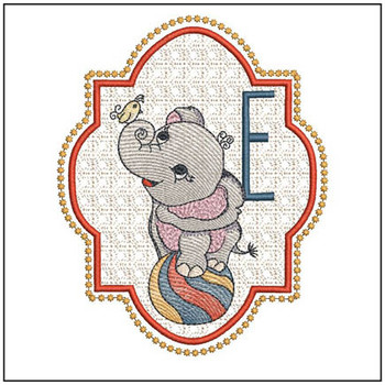 Circus Ellie ABC's - E - Embroidery Design