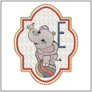 Circus Ellie ABC's - E - Embroidery Design
