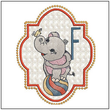 Circus Ellie ABC's - F - Embroidery Design