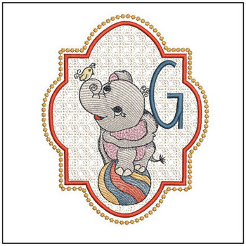 Circus Ellie ABC's - G - Embroidery Design