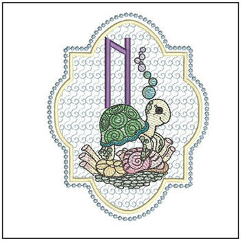 Turtle On Shells ABCs - N - Embroidery Designs