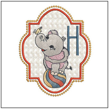 Circus Ellie ABC's - H - Embroidery Design