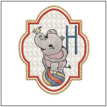 Circus Ellie ABC's - H - Embroidery Design