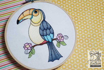 Toucan On Branch - Embroidery Designs