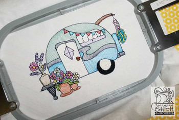 Vintage Camper 4 - Embroidery Designs