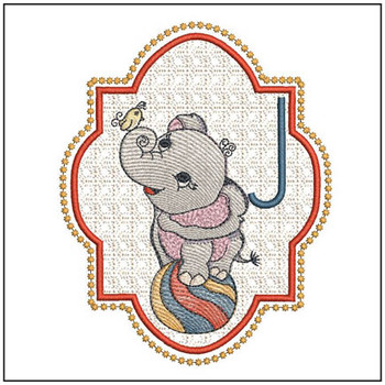 Circus Ellie ABC's - J - Embroidery Design