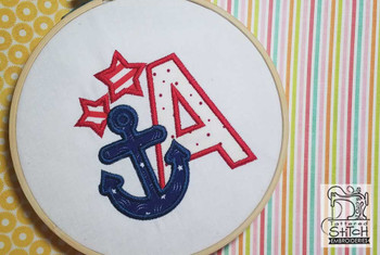Anchor Applique ABC's - A - Embroidery Designs