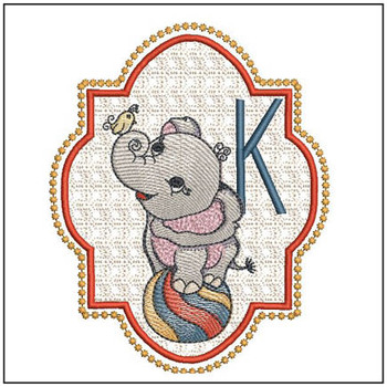 Circus Ellie ABC's - K - Embroidery Design