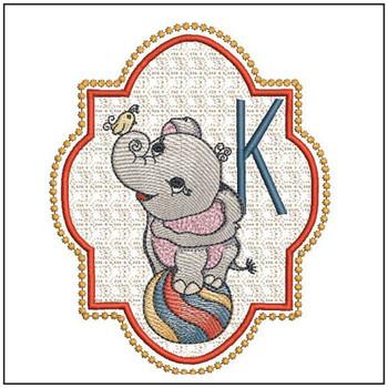 Circus Ellie ABC's - K - Embroidery Design