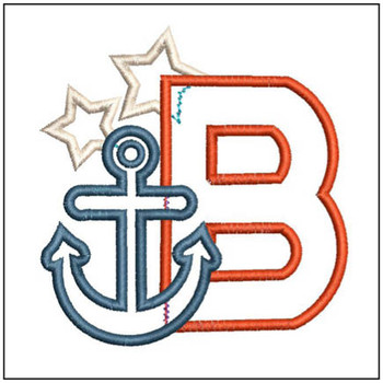 Anchor Applique ABC's - B - Embroidery Designs