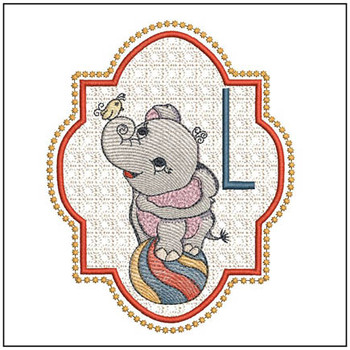 Circus Ellie ABC's - L - Embroidery Design