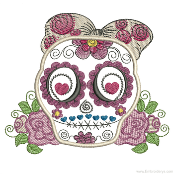 Sugar Skull Applique - Embroidery Designs