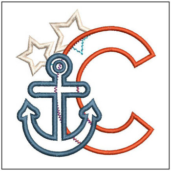 Anchor Applique ABC's - C - Embroidery Designs