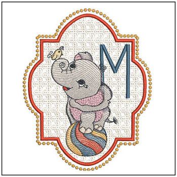 Circus Ellie ABC's - M - Embroidery Design