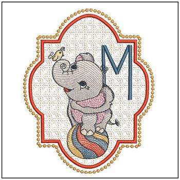 Circus Ellie ABC's - M - Embroidery Design