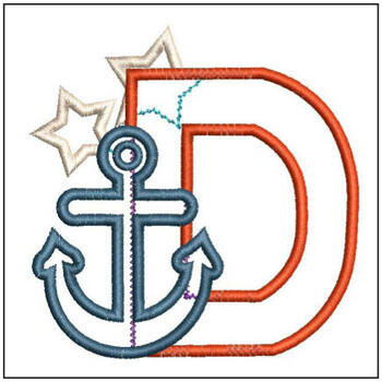Anchor Applique ABC's - D - Embroidery Designs