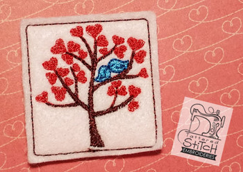 Love Birds Tree Felty - Embroidery Designs