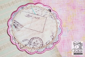 """Scalloped Coaster Blank - 4x4, 5x5, 6x6, 7x7 and 8x8"""" Hoop  - Instant Downloadable Machine Embroidery"""