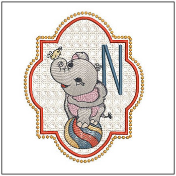 Circus Ellie ABC's - N - Embroidery Design