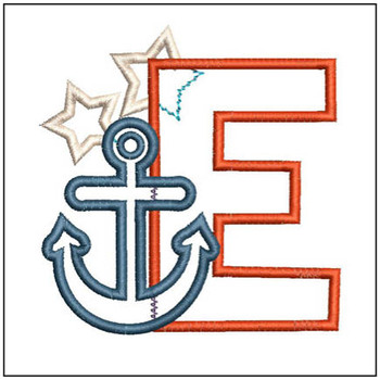 Anchor Applique ABC's - E - Embroidery Designs