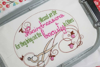 "Hairdressers Fits a 5x7"" & 8x8"" Hoop  - Instant Downloadable Machine Embroidery"