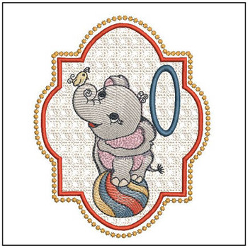 "Circus Ellie ABC's - O - Fits in a 5x7"" Hoop - Instant Downloadable Machine Embroidery"