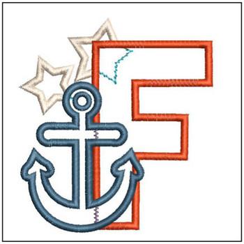 Anchor Applique ABC's - F - Embroidery Designs