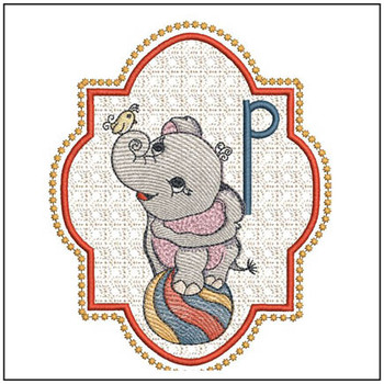 Circus Ellie ABC's - P - Embroidery Design
