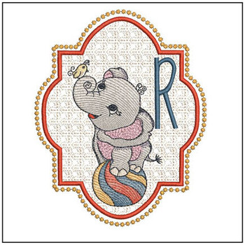 Circus Ellie ABC's - R - Embroidery Design