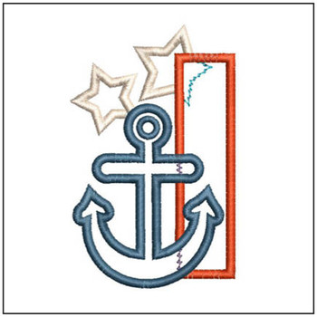 Anchor Applique ABC's - I - Embroidery Designs