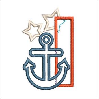 Anchor Applique ABC's - I - Embroidery Designs