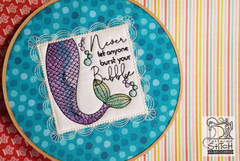 "Mermaid Bubble Quilt Block - Fits a 5x7"" & 8x8"" Hoop  - Instant Downloadable Machine Embroidery"