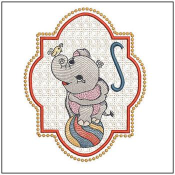 Circus Ellie ABC's - S - Embroidery Design