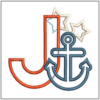Anchor Applique ABC's - J - Embroidery Designs