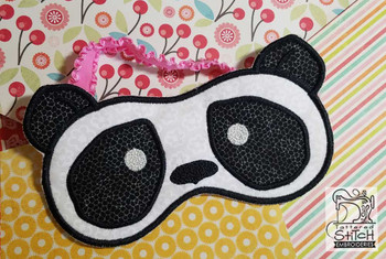 "Panda Sleep Mask - Fits a 5x7"" Hoop  - Instant Downloadable Machine Embroidery"