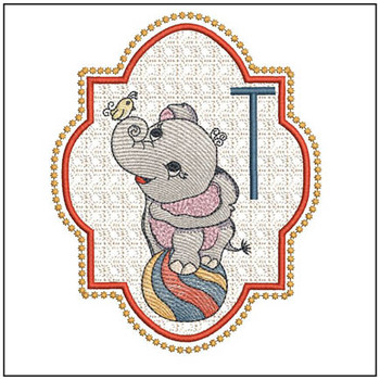Circus Ellie ABC's - T - Embroidery Design
