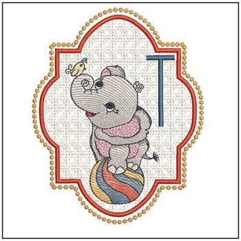 Circus Ellie ABC's - T - Embroidery Design