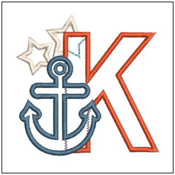 Anchor Applique ABC's - K - Embroidery Designs