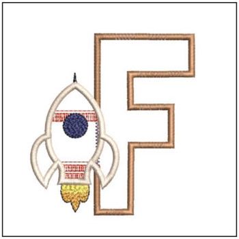 Rocket Applique ABCs - F - Embroidery Designs