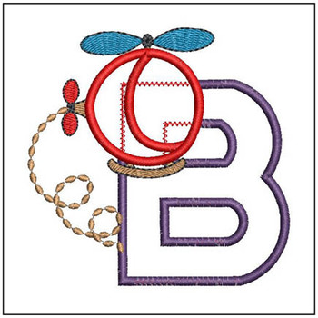 Helicopter ABC's - B - Embroidery Designs