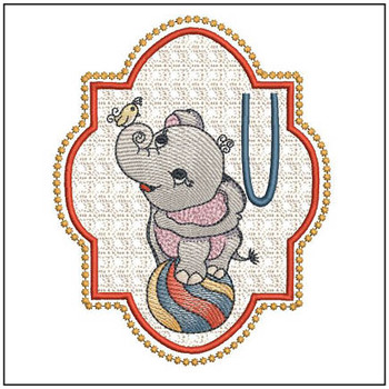 Circus Ellie ABC's - U - Embroidery Design