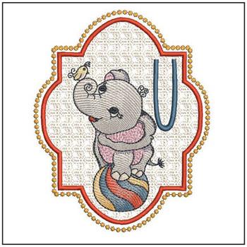 Circus Ellie ABC's - U - Embroidery Design