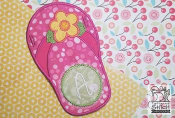 Flip Flop Font - A-E - Embroidery Designs