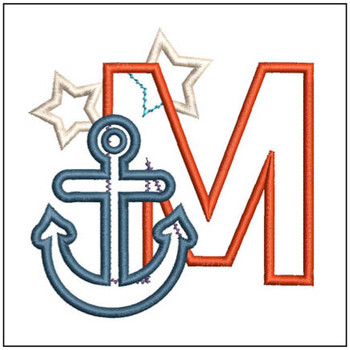 Anchor Applique ABC's - M - Embroidery Designs