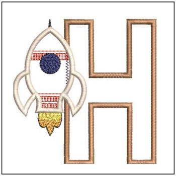 Rocket Applique ABCs - H - Embroidery Designs