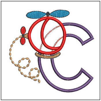 Helicopter ABC's - C - Embroidery Designs