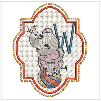 Circus Ellie ABC's - W - Embroidery Design