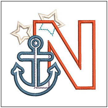 Anchor Applique ABC's - N - Embroidery Designs