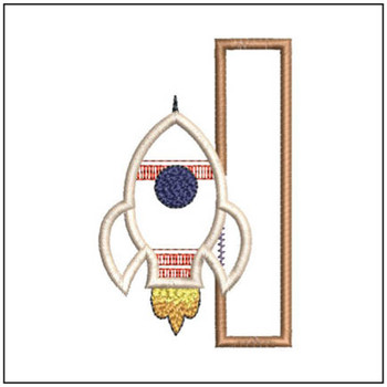 "Rocket Applique ABC's - I - Fits in a 4x4"" Hoop - Applique - Instant Downloadable Machine Embroidery"